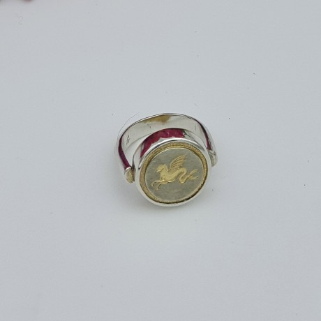 French Vintage Dragon Button Ring